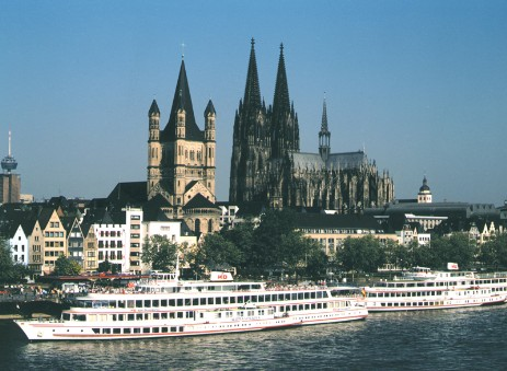 Cologne historic city panorama